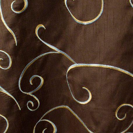 Chocolate Faux Silk Swirl