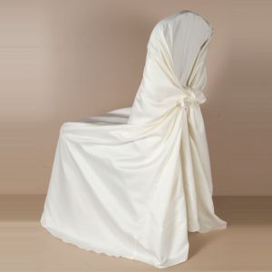 Oyster Matte Satin Pillowcase Chair Cover