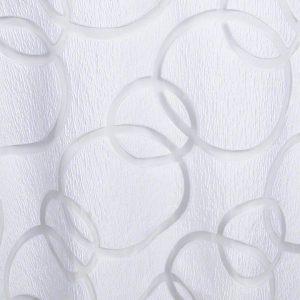 White Apollo Sheer over White Classic Solid
