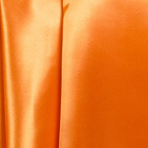 satin pumpkin orange