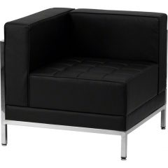 Black Imagination Left Corner Sectional Chair