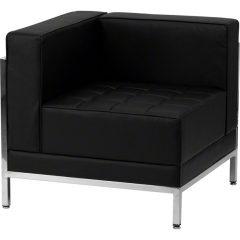 Black Imagination Left Corner Sectional Chair
