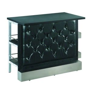 Black Tufted Modular Bar Front