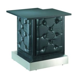 Black Tufted Modular Bar Corner