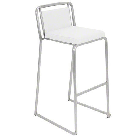 White Cascade Bar Stool