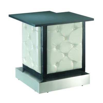 White Tufted Modular Bar Corner