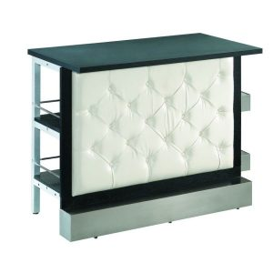 White Tufted Modular Bar Front