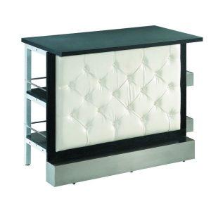 White Tufted Modular Bar Front