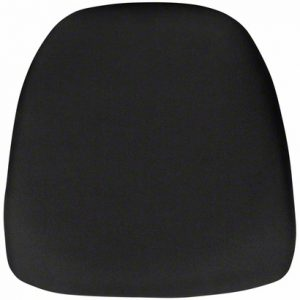 Black Fabric Chair Pad