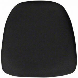 black fabric chiavari pad