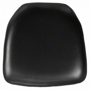 Black Faux Leather Chair Pad