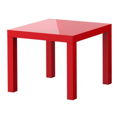Red Standard End Table
