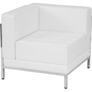 White Imagination Left Corner Sectional Chair