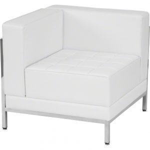 White Imagination Left Corner Sectional Chair