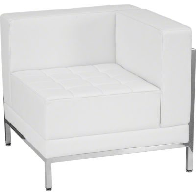 White Imagination Right Corner Sectional Chair