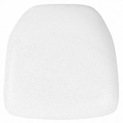 white vinyl chiavari pad