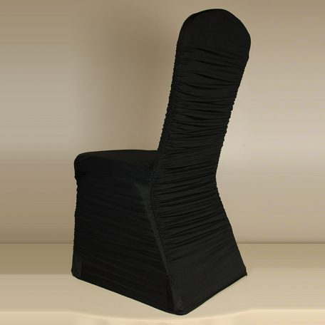 Black Rouge Pleat Chair Cover