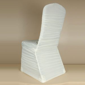 Ivory Rouge Pleat Chair Cover