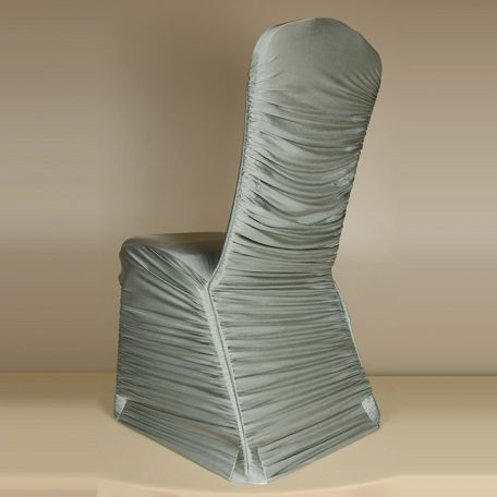 Silver Rouge Pleat Chair Cover