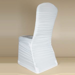 White Rouge Pleat Chair Cover
