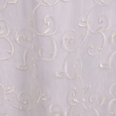 Ivory Embroidered Sheer