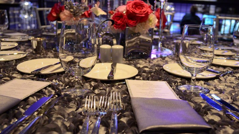 Jay Lazar and Lisa Rasansky Wedding Reception inside Sound Board at the Motor City Hotel and Casino