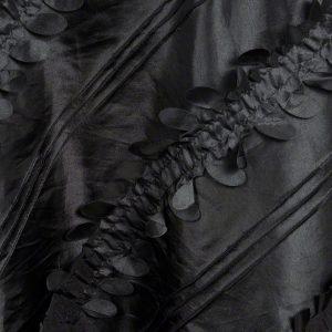 Black Petals Taffeta