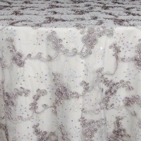 Charcoal Sequins Sheer