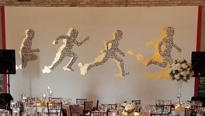 Running Men Mural at The Eastern
