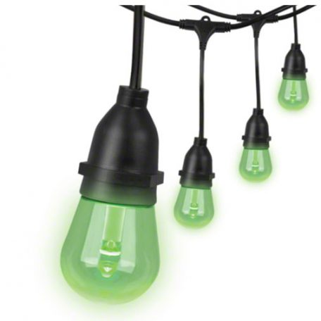 Green LED Edison Style String Lights
