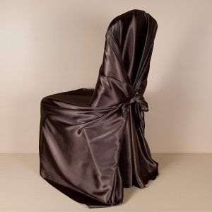 Chocolate Sati Pillowcase Chair Cover