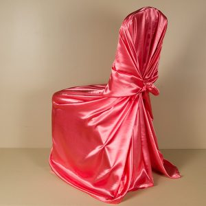 Coral Satin Pillowcase Chair Cover