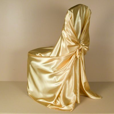 Gold Satin Pillowcase Chair Cover