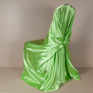Lime Satin Pillowcase Chair Cover
