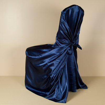 Navy Satin PIllowcase Chair Cover