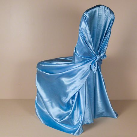 Periwinkle satin Pillowcase Chair Cover