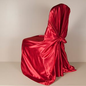 Red Satin Pillowcase Chair Covers