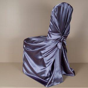 Victorian Lila Satin Pillowcase Chair Cover