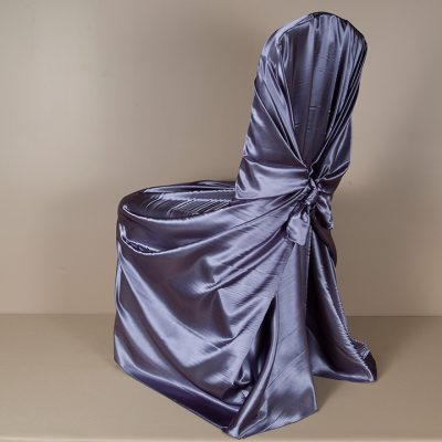 Victorian Lila Satin Pillowcase Chair Cover