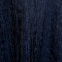 Midnight Blue Crinkle Taffeta