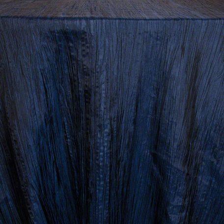 Midnight Blue Crinkle Taffeta