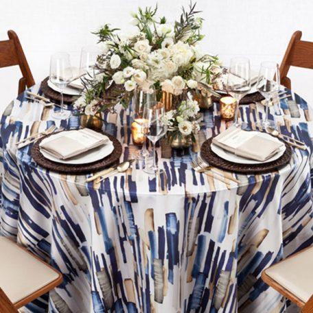 Blue Brushstroke Tablescape