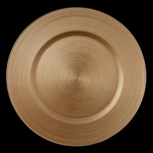 Circle Gold Glass Charger
