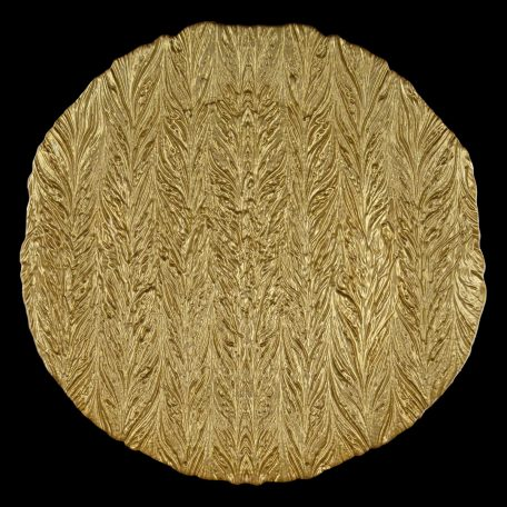 Cork Gold Glass Charger