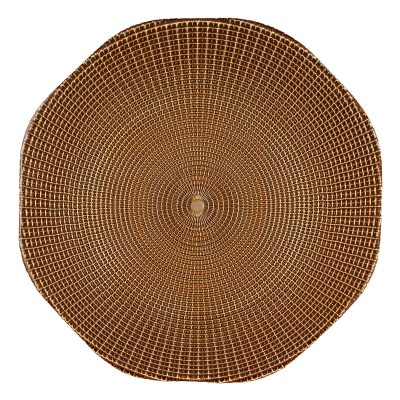 Eternity Brown Gold Glass Charger