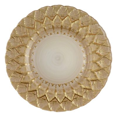 Florence Gold Cream Glass Charger