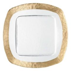 Ice Square Gold Glass Charger