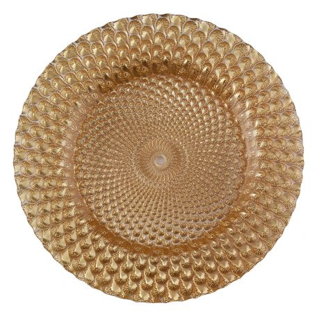 Luxe Gold Glass Charger