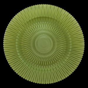 Marbella Citron Green Glass Charger