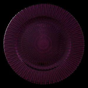 Marbella Purple Glitter Glass Charger
